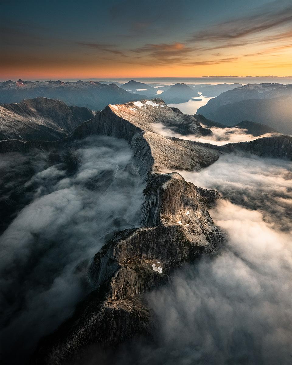 Wandbild Berge Kanada