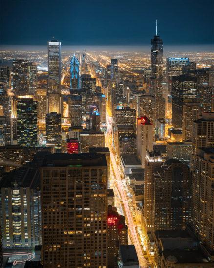 Wandbild chicago skyline