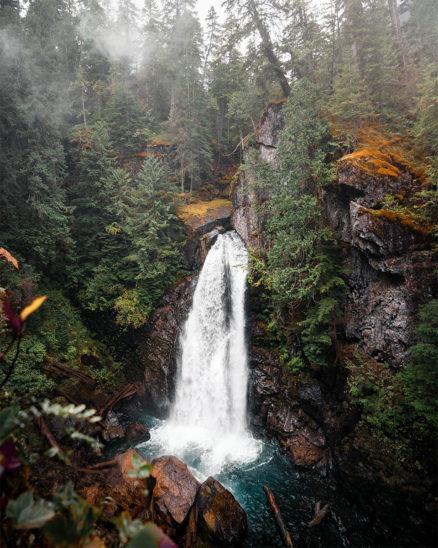 wandbild westcoast waterfall