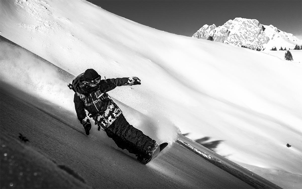 wandbild Snowboard