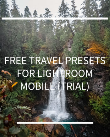 2 Free Travel Presets Lightroom Mobile